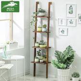 花架 實木花架多層梯架客廳多肉室內綠蘿花盆架花架子置物架T