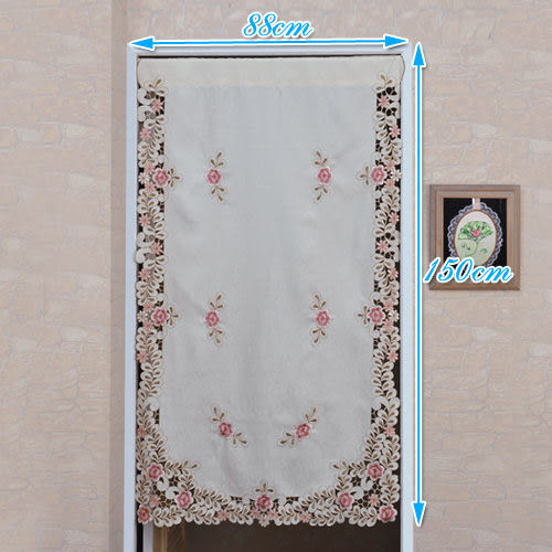 《家購網寢俱館》芸佳花舞繡花系列-門簾(88*150cm)