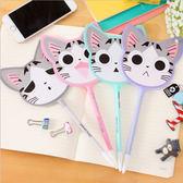 韓國可愛貓咪扇子中性筆 仿針型0.5原子筆 風扇 涼扇【AN SHOP】