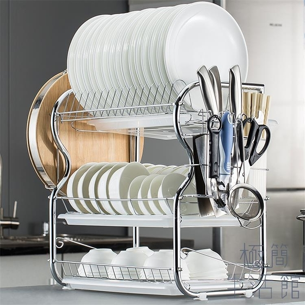 碗架瀝水架家用廚房置物架多功能晾碗碟架碗筷收納盒【極簡生活】