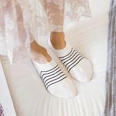 襪子女短襪棉質細條紋日系女款低幫船襪薄款正韓春夏季防臭隱形襪