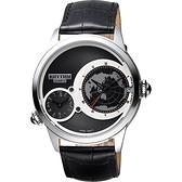 RHYTHM日本麗聲 雙時區石英手錶-黑/43mm I1503L02