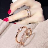 戒指—簡約百搭歐美指環韓版女戒學生飾品韓國時尚夸張女士戒指食指 依夏嚴選