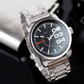 DIESEL Men's 簡約數字黑色錶盤腕錶 DZ1370 熱賣中!