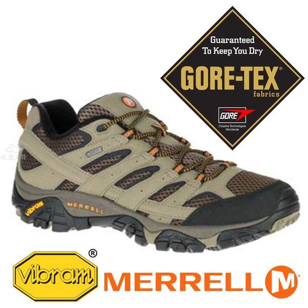 【MERRELL 美國】MOAB 2男GORE-TEX 多功能健行鞋『棕色』06035 多功能鞋.休閒鞋.登山鞋
