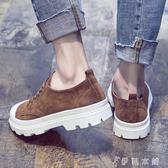 男鞋韓版潮鞋休閒鞋子厚底內增高板鞋英倫圓頭皮鞋男 伊鞋本鋪