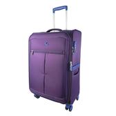 《高仕皮包》【免運費】Verage 超輕量經典格紋環保旅行.28吋.紫色349-1328-08