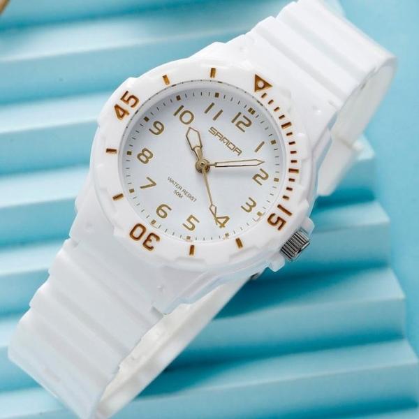 兒童手錶兒童手錶指針式石英錶男大童初高中小學生防水潮流簡約女孩電子錶 JUST M