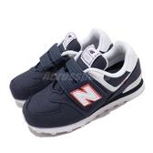 New Balance 休閒鞋 NB 574 藍 白 童鞋 中童鞋 魔鬼氈 運動鞋【ACS】 YV574SOPW