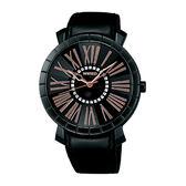 ALBA WIRED 夜之風華時尚手錶-黑/35mm 7N01-X003D(AG5A17X)