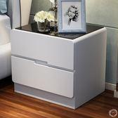 82折免運-時尚房間床頭櫃小臥室高檔簡約經濟型烤漆儲物櫃床邊桌邊櫃收納櫃XW