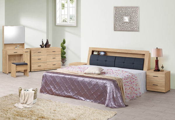 【森可家居】穆得5尺床頭箱 7ZX130-2 雙人 被櫥頭 木紋質感