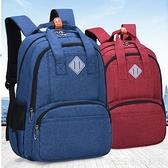 韓版小學生書包男孩後背休閒旅行背包中學生書包高中時尚後背包
