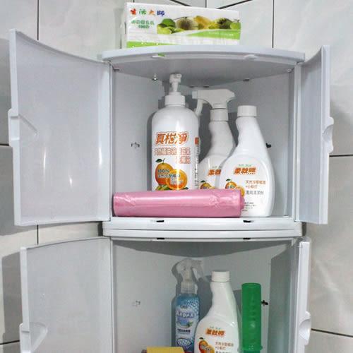 【角落置物箱】收納箱 浴室擺放 玩具箱 防塵檔水 免安裝 LH-101 [百貨通]