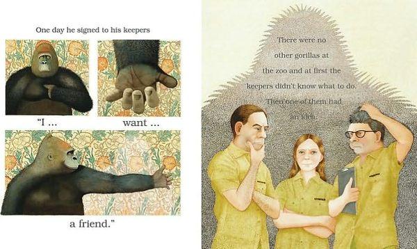 【麥克書店】LITTLE BEAUTY /英文繪本附CD《主題:友誼.關懷》(中譯:大猩猩和小星星)
