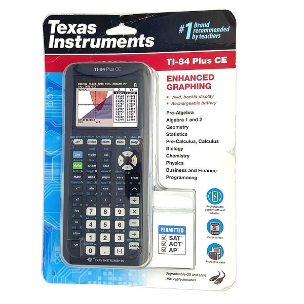 [商檢認證D35986] Texas Instruments TI-84 Plus CE Calculator 圖形計算機 (商檢局規定不能附變壓器)