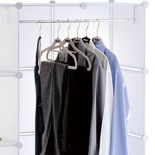 ikloo 12吋收納櫃延伸配件-兩格用長衣桿 衣架 曬衣桿 曬衣架 衣櫃-商品加購只要120元