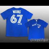 MLB大聯盟 快排號碼T 藍鳥隊 WANG 王建民 #67 藍 速乾 排汗 #6330277-550 ☆speedkobe☆