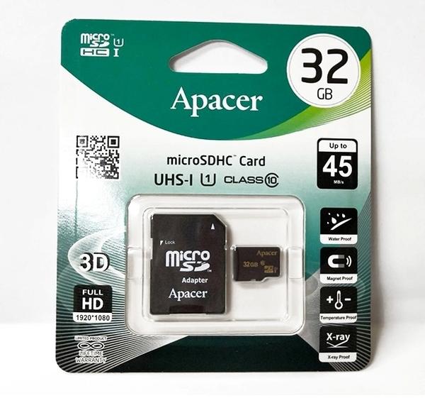 APACER 記憶卡 32G USH-I C10/適用手機/平板/部份 行車記錄器