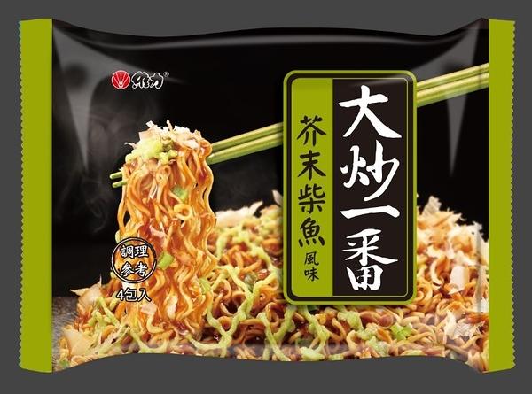 維力大炒一番泡麵85g(4入/袋)-芥末柴魚風味 (2020新版)【合迷雅好物超級商城】