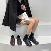 豆豆鞋 單鞋女鞋子2021年新款秋冬季樂福豆豆鞋百搭英倫風黑色小皮鞋 【618 狂歡】