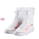 YoYo 女防水鞋 防雨鞋套(8色)中筒加厚防滑防雪鞋套 兒童雨鞋套(27-44)AQ1005