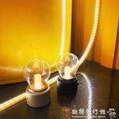 創意簡約臥室床頭擺件裝飾燈學生照明燈泡小夜燈迷你檯燈igo  歐韓流行館
