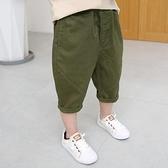 男童短褲 兒童短褲外穿夏季薄款男童純棉中褲哈倫褲男孩寬鬆燈籠褲-Ballet朵朵