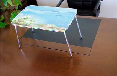 折疊桌U型款電腦桌大號筆記本電腦桌床上用懶人桌卡通小書桌折疊桌 【时尚新品】
