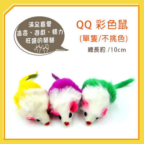 【力奇】QQ 彩色鼠(單隻)  (WE220193)- 【隨機出貨,恕不挑色】 可超取(I002E48)