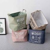 聖誕免運熱銷 髒衣籃加厚EVA大號髒衣籃方形桶可折疊收納框麻布收納箱玩具零食收納盒wy