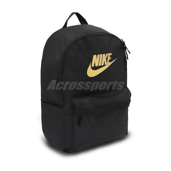 Nike 後背包 Heritage 2.0 Backpack 黑 金 男女款 運動休閒 【PUMP306】 BA5879-013