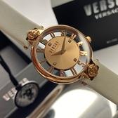 星晴錶業-VERSUS VERSACE凡賽斯女錶,編號VV00002,36mm玫瑰金錶殼,白錶帶款