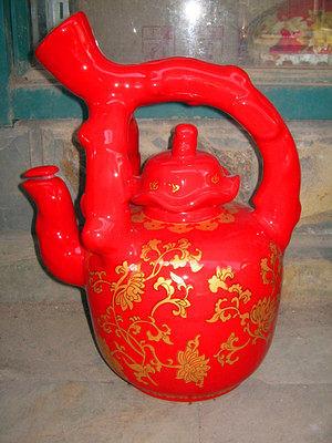 景德鎮陶瓷10斤酒壇手繪提梁茶壺
