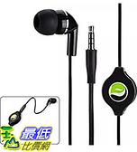 [106 美國直購] Mono Retractable Premium Sound Handsfree Single Earbud Mic Headset
