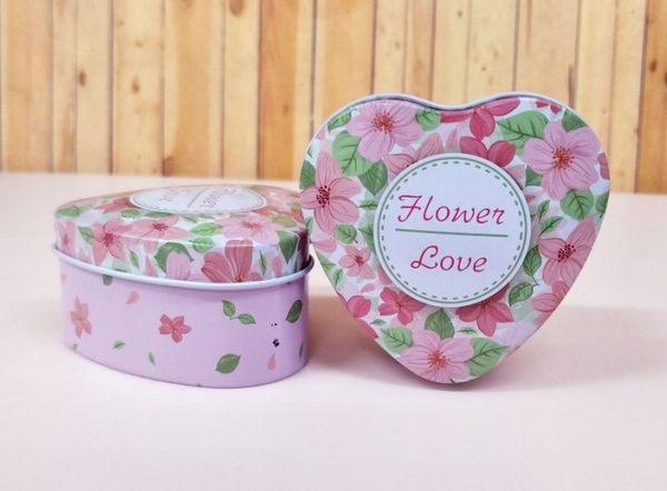 Flower Love愛心鐵盒 喜糖盒 婚禮小物 【皇家結婚用品】