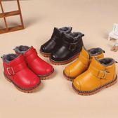 兒童雪靴-冬季棉鞋加絨加厚男女童防水防滑短靴