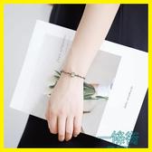 黑色荊棘樹枝文藝手鍊S925純銀日韓國簡約個性手環森林系禮物女款