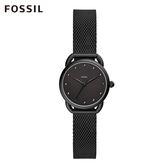 FOSSIL MINI TAILOR 黑色簡約米蘭手錶 女 ES4489