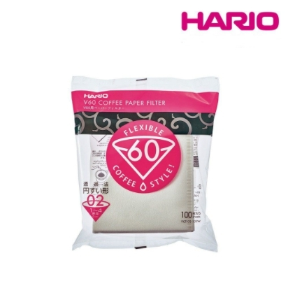 【沐湛咖啡】HARIO V60 漂白濾紙 VCF-02-100W 2-4人