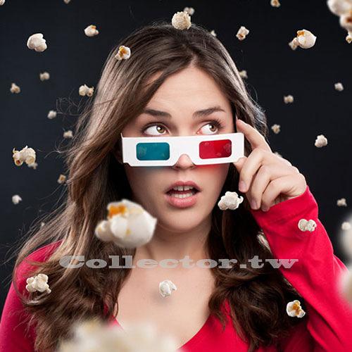 【超取299免運】紙製紅藍3D眼鏡 白紙卡3D立體眼鏡 3D電影專用眼鏡