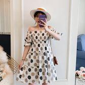 促銷價不退換中大尺碼夏裝新款女裝法國小眾桔梗裙圓點閨蜜裝連衣裙1910819109(R007)皇潮天下