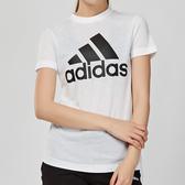 Adidas W MH BOS TEE 女款 白色 運動 休閒 圓領 短袖 上衣 DZ0013