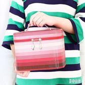 化妝箱 大鏡子收納箱女士旅行便攜化妝包防水洗漱用品收納盒 BF9846『男神港灣』