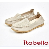 ★2017秋冬新品★itabella.拼接爆裂紋休閒鞋(7569-20杏)