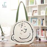 帆布包 ulzzang熱賣童趣個性卡通簡約時尚單肩帆布文藝可愛造型購物袋 娜娜小屋