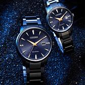 【台南 時代鐘錶 CITIZEN】星辰 EW2598-83L BM7528-86L 藍寶石鏡面 日期 鋼錶帶 光動能 銀河藍對錶 黑