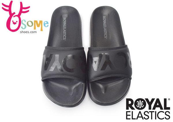 Royal Elastics運動拖鞋 男/女 黑底黑字 輕量 防水拖鞋H5607#黑色◆OSOME奧森童鞋/小朋友