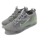 Nike 慢跑鞋 Air Vapormax 2021 FK 灰 綠 針織 全氣墊 男鞋 【ACS】 DH4084-003