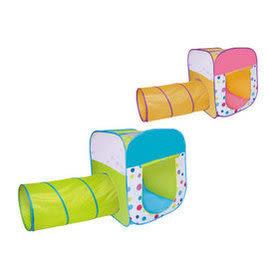 親親 繽紛四角帳篷+隧道+100顆球(6cm) 綠 / 粉